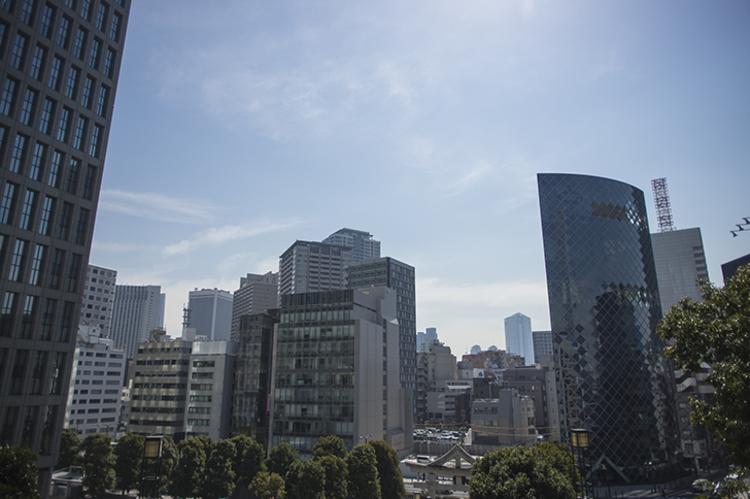 港区の街の風景