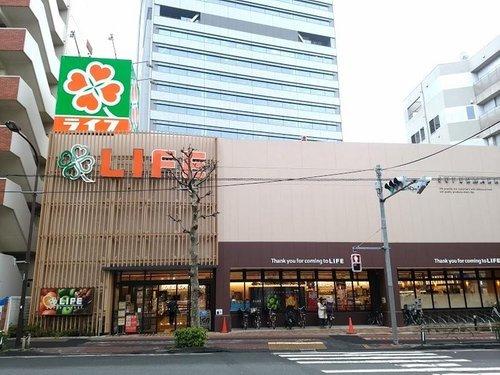 ライフ東五反田店まで709m 新鮮食材中心のスーパーマーケット。品揃えも豊富で買い物に助かります