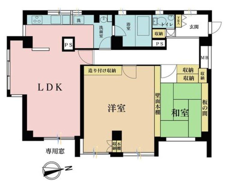 2LDK、価格4480万円、専有面積92.46m2
