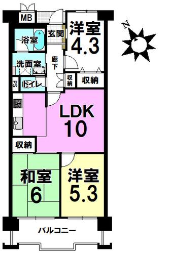 サンライズマンション山坂町の物件画像