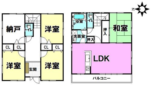 住道矢田1丁目 中古戸建の画像