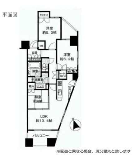 エールトレビュー聖蹟桜ヶ丘ハイライズ・A棟ソワレの物件画像
