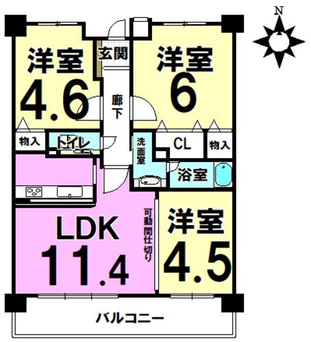 ルイシャトレ駒川中野の物件画像