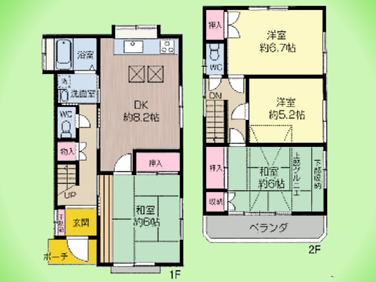 4DK、土地面積91.54平米、建物面積83.02平米