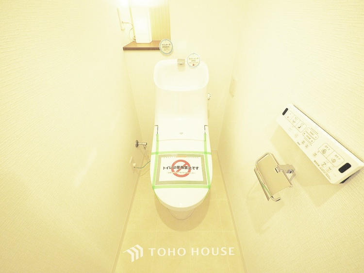 新規交換済み、ウォシュレット機能付きトイレ