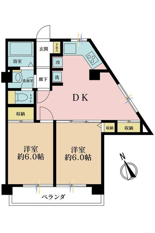 2DK、価格3180万円、専有面積55.67m2
