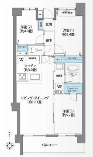 大倉山北パークホームズ弐番館の物件画像