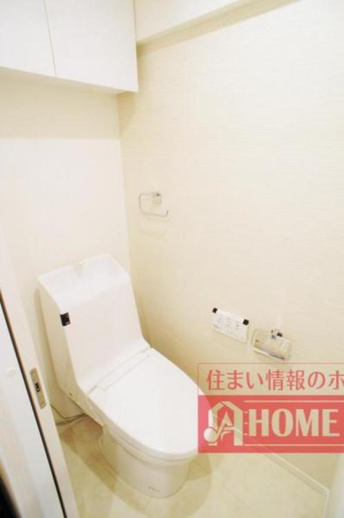 節水効果がありお手入れがしやすいタンク一体型トイレ!