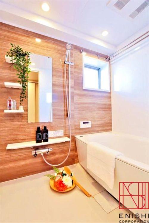 バスルームの様子。 浴室換気乾燥暖房機付 窓有 追い焚き付