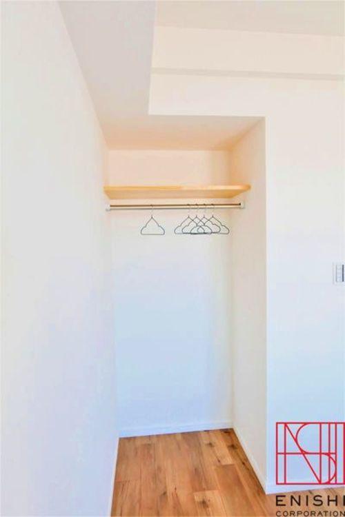 4.4帖の洋室の収納スペースの様子。