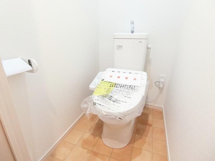 快適なウォシュレット付きのトイレです。