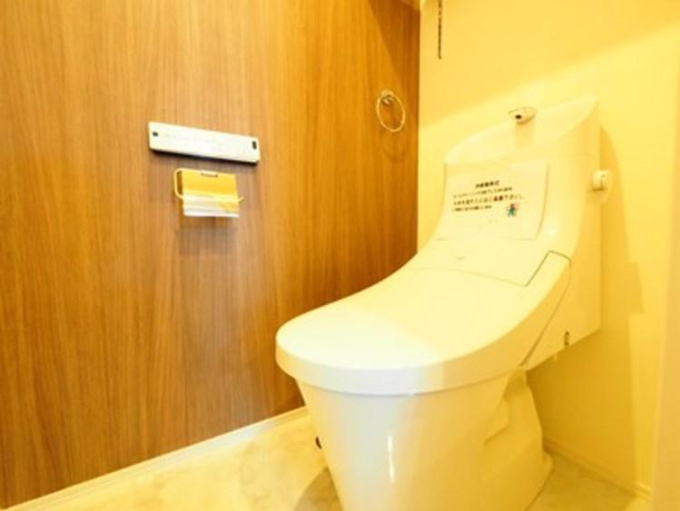 落ち着いた内装のトイレです。