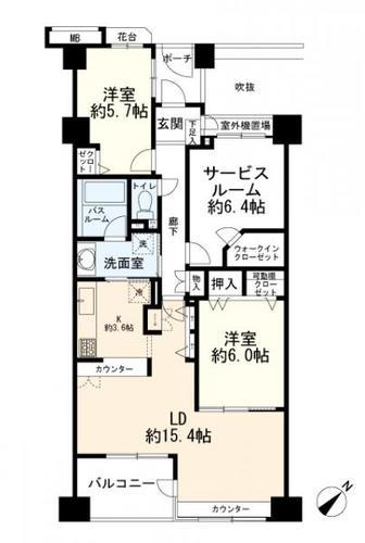 クレッセント新横浜ツインズイーストの画像