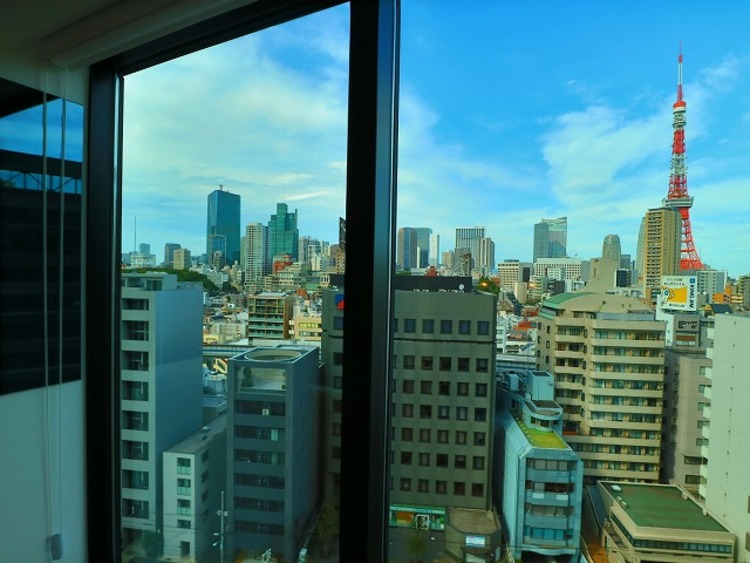 リビングからは東京タワーを見ることができます。眺望の良さはタワーマンションの醍醐味です。