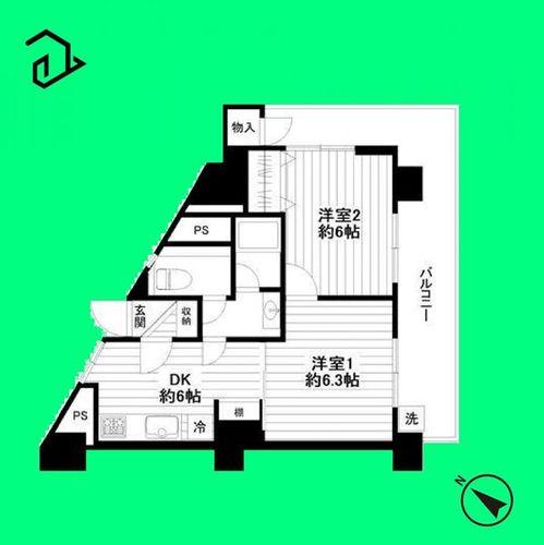 梅田マンション(801)の画像