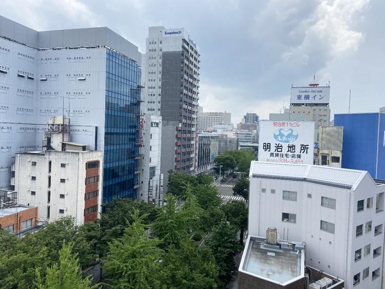 9階バルコニー部分からの眺望。