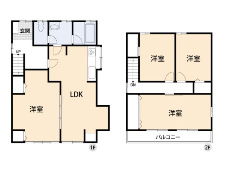 フレキシブルな間取。お客様の人数に合わせて間仕切りで部屋の大きさを変えられます。
