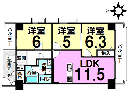 ユニハイム東住吉駒川中野の画像