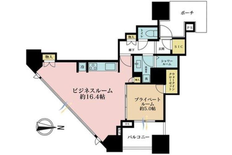 2K+S(納戸)、価格9500万円、専有面積54.31m2、バルコニー面積5.5m2