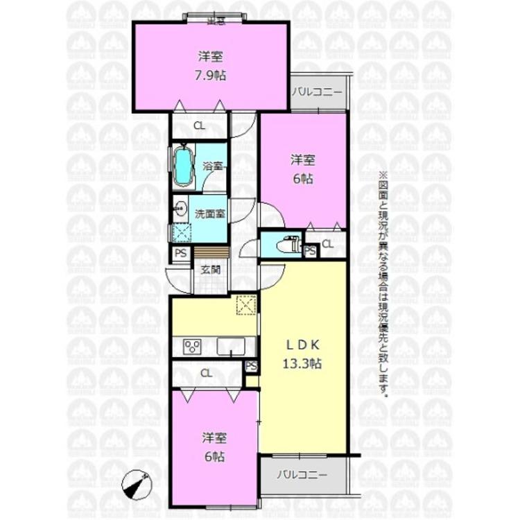 各居室6帖以上の広々とした間取りプランです!