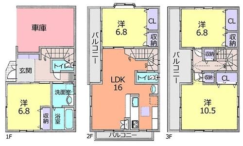 川口市芝宮根町 中古住宅の画像