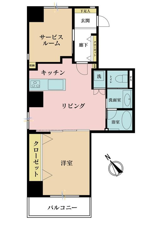 2LDK、価格3598万円、専有面積48.96m2、バルコニー面積5.06m2