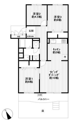 勝田台ファミリーハイツC棟(112)の物件画像