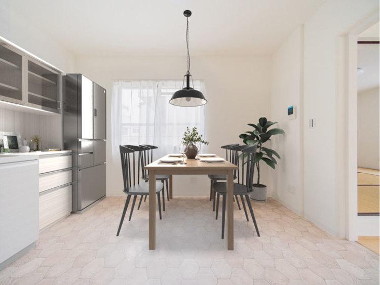 どんな世代のご家庭にも合うシンプルな内装に仕上げています ※家具はイメージです