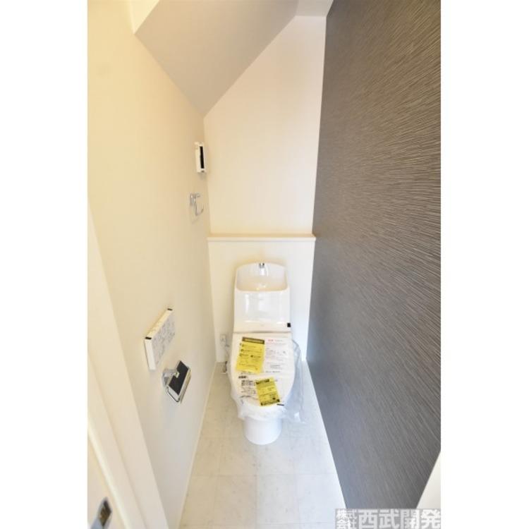 1階トイレ、いつも綺麗に清潔に。ウォッシュレット付きトイレです。