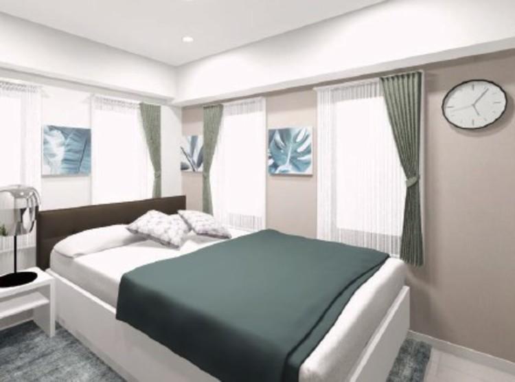 ナチュラルで落ち着いた色合いのアクセントクロスは、さりげなくお部屋を上品に彩ります