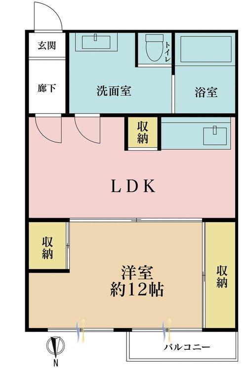 1LDK、価格4498万円、専有面積54.46m2