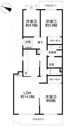 綱島富士見台パークホームズB棟の物件画像