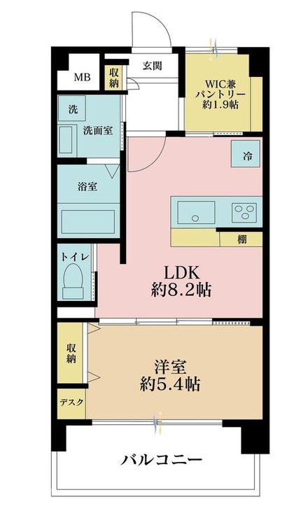 1LDK、価格3380万円、専有面積36.12m2、バルコニー面積6.87m2