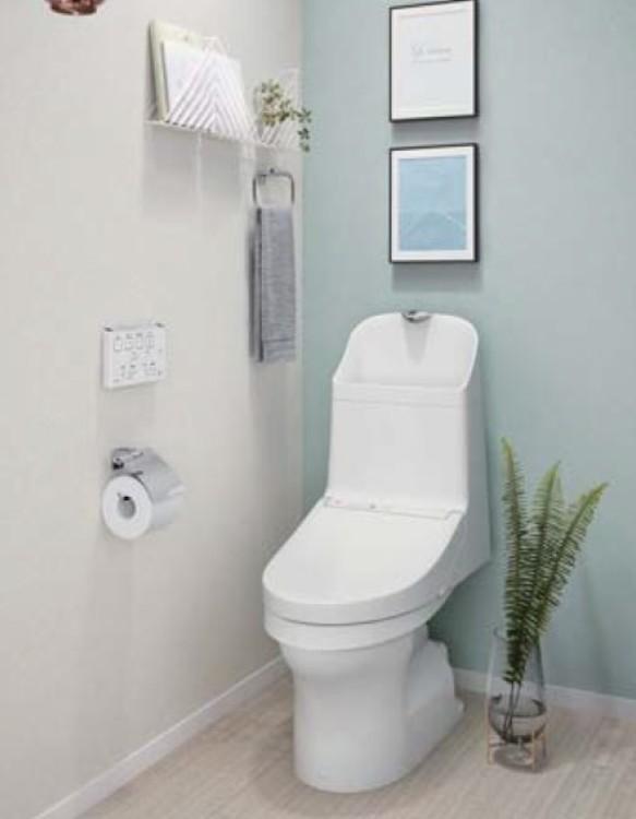 快適な使い心地のウォシュレットトイレ。洗浄量がリモコンで切り替えられるので便利です
