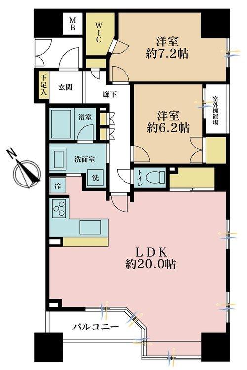 3LDK、価格7990万円、専有面積81.54m2、バルコニー面積6.41m2
