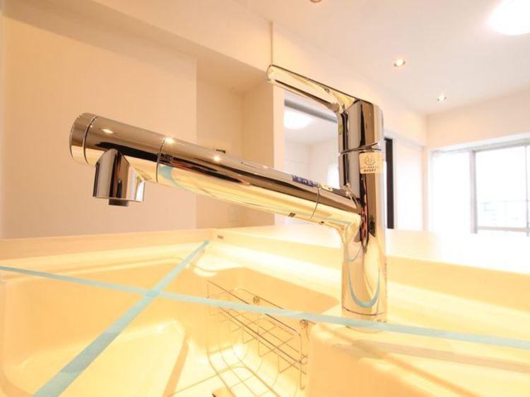 浄水一体型水栓を新規に交換済み。近年、主流になりつつある設備です。