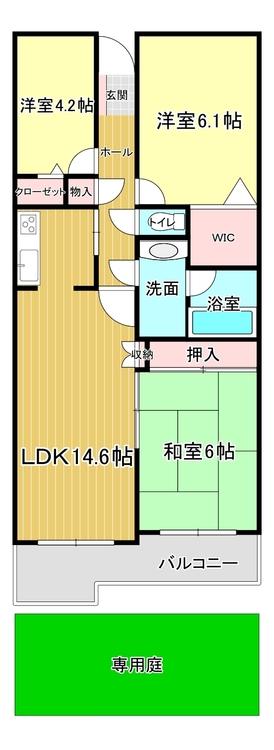 ◇2SLDK◇専有面積:71.37m2◇バルコニー:8.05m2