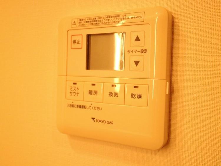 浴室乾燥機付なので、雨の日も気にせずにお洗濯ができます。
