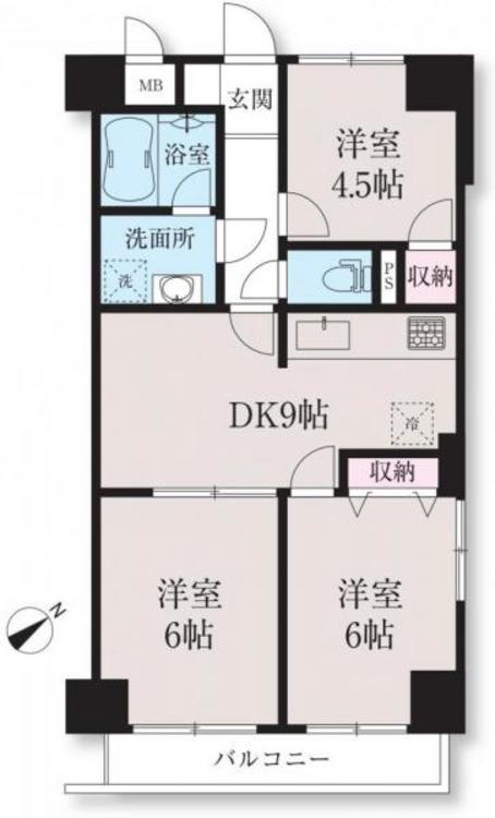 間取図 112号室 3DK