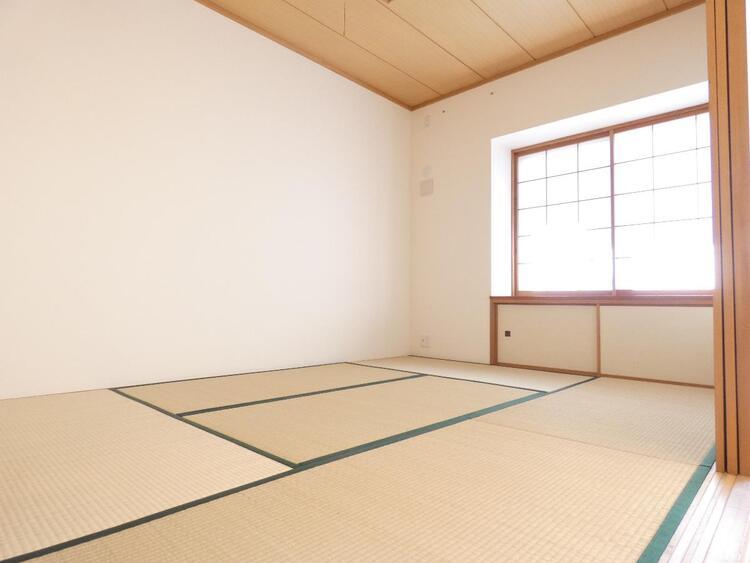 和室が1部屋あるとなごみますね。お子様のお昼寝にも便利です。