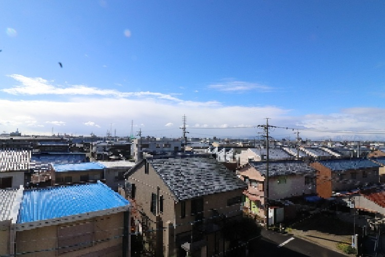 バルコニーからの眺望です!
