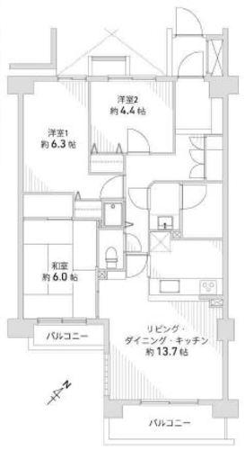 「町田」駅歩13分 バームステージ町田中町 ペット相談可 オートロックの物件画像