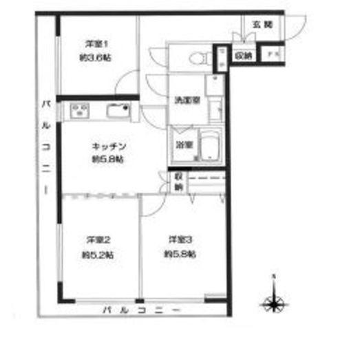 「青葉台」駅歩12分 ライオンズマンション青葉台第6 南西角部屋の物件画像