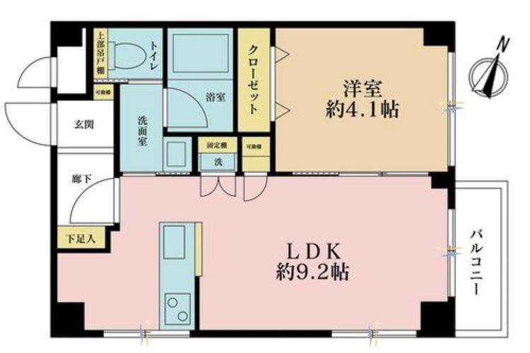 1LDK、価格3980万円、専有面積36.4m2、バルコニー面積2.32m2