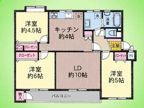 新原町田グリーンハイツC4の物件画像
