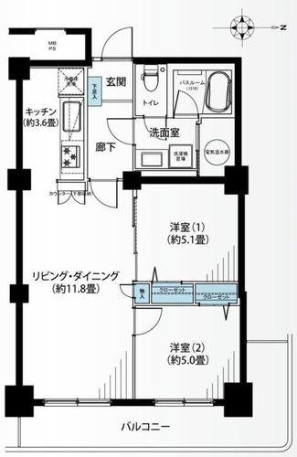 清新中央ハイツ6号棟の物件画像