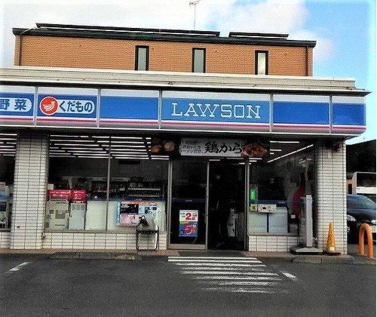 """ローソン川崎市立井田病院店まで330m。三菱商事の子会社である株式会社ローソンが展開しているコンビニエンスストアフランチャイザー。 """"みんなと暮らすマチ""""を幸せにがコンセプトです。"""