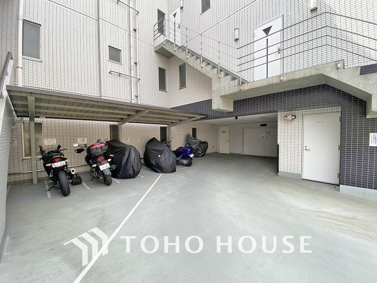 バイク置き場:料金、空き状況要確認