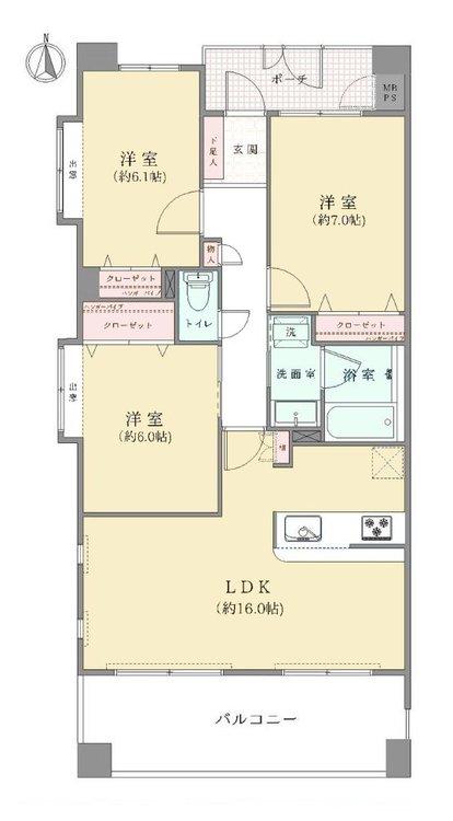 2021年5月にリフォーム完了予定のお住まい。居室がすべて6帖以上なのもポイントの1つ。プライベートの時間も楽しめます。