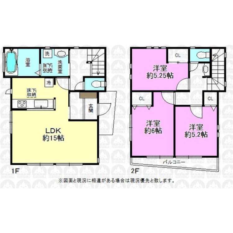 建物面積80.31m2/人気の対面式キッチンを採用。LDKは現在リフォーム中です。